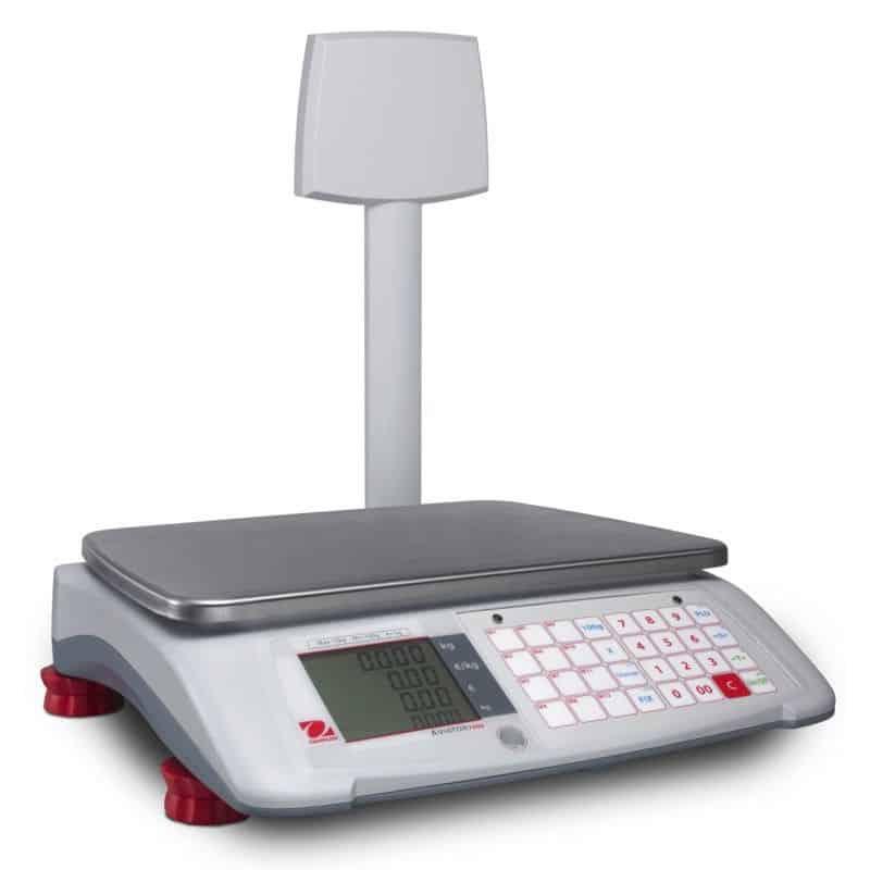 Rekenweegschaal Ohaus Aviator 7000 – 3-30kg – Geijkt – 12 Producttoetsen